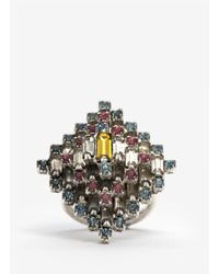 Erickson Beamon - Multicolor Multi-coloured Crystal Ring - Lyst