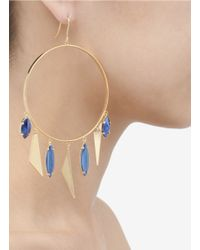 Iosselliani - Metallic Embellished Hoop Earrings - Lyst