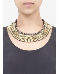 Iosselliani - Metallic Embellished Necklace - Lyst