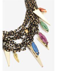 Iosselliani | Multicolor Multi-chain Stones Necklace | Lyst