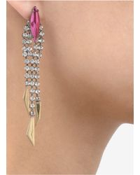 Iosselliani - Pink Carved-detail Crystal Earrings - Lyst