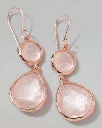 Ippolita Pink Rose Rock Candy Snowman Earrings