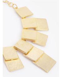 Kenneth Jay Lane | Metallic Square Bib Necklace | Lyst