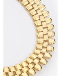 Kenneth Jay Lane - Metallic Textured-hardware Necklace - Lyst
