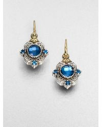 Konstantino | Metallic Semi Precious Multistone Sterling Silver 18k Gold Drop Earrings | Lyst