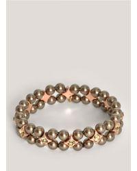 Philippe Audibert | Gray Two-row Grey Pearl Bracelet | Lyst