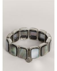 Philippe Audibert | Gray Square Abalone-shell Bead Bracelet | Lyst