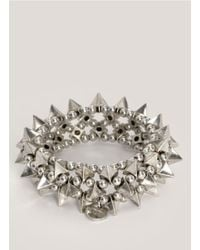 Philippe Audibert | Metallic Tworow Spike Bracelet | Lyst