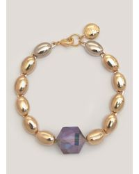 Scho | Metallic Adonai Hexagon Bracelet | Lyst
