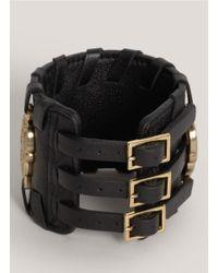 Thomas Wylde Black Warrior Of Light Leather Bracelet