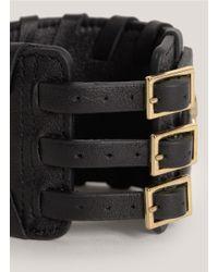 Thomas Wylde | Black Warrior Of Light Leather Bracelet | Lyst