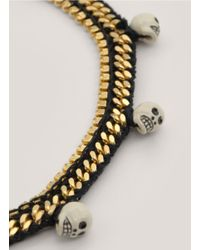 Venessa Arizaga - Black 'fool's Gold' Skull Bead Necklace - Lyst