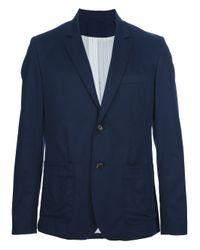 A.P.C. Blue Two Button Blazer for men