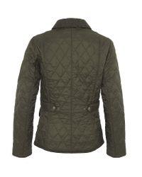 Barbour Green Vintage Tweed Quilted Jacket