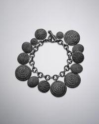 David Yurman | Metallic Cable Coil Charm Bracelet | Lyst