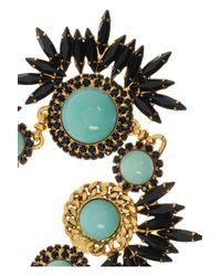 Elizabeth Cole Metallic Gold Plated Swarovski Crystal Necklace
