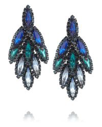 Elizabeth Cole - Metallic Hematite Plated Swarovski Crystal Earrings - Lyst