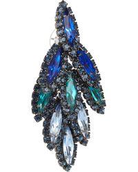 Elizabeth Cole Metallic Hematite Plated Swarovski Crystal Earrings