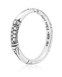 John Hardy | Metallic Bamboo Slim Diamond Ring | Lyst