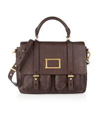 Marc By Marc Jacobs Brown Werdie Textured Leather Messenger Bag