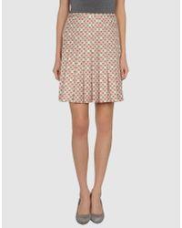 Marc Jacobs | Pink Knee Length Skirt | Lyst
