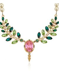 Mawi | Multicolor Crystal and Pearl Necklace | Lyst