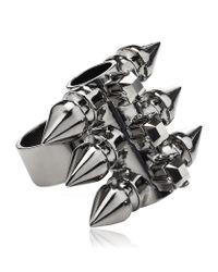 Mawi Metallic Spike Tube Ring