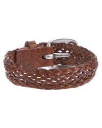 Orciani - Brown Woven Leather Bracelet for Men - Lyst