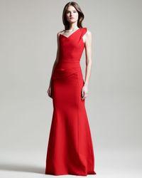 Roland Mouret Red Azul Oneshoulder Gown