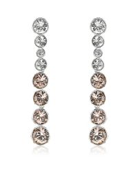 Swarovski - Metallic Crystal Earrings - Lyst