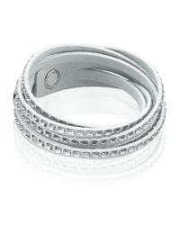 Swarovski | White Slake Square Crystal Bracelet | Lyst