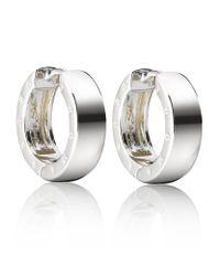 Thomas Sabo | Metallic Small Logo Hoop Earrings | Lyst