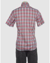 Xacus Pink Short Sleeve Shirt for men