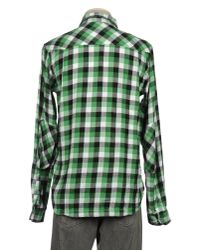 Addict Green Long Sleeve Shirt for men