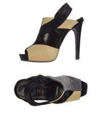 Aperlai Black Platform Sandals