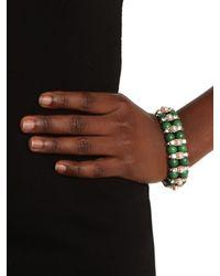 BaubleBar - Green Encrusted Jade Set - Lyst