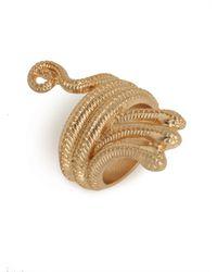 BaubleBar - Metallic Gold Medusa Ring - Lyst