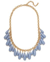 BaubleBar Blue Peri Tear Fringe Necklace