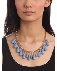 BaubleBar Blue Peri Tear Fringe Necklace