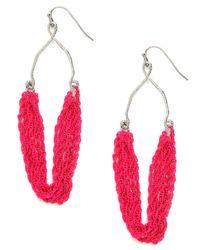 BaubleBar Pink Sirenuse Drop Earrings