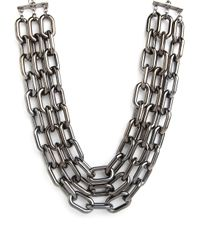 BaubleBar - Metallic Triple Hematite Collar - Lyst