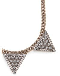 BaubleBar - Gray Warrior Triad Necklace - Lyst