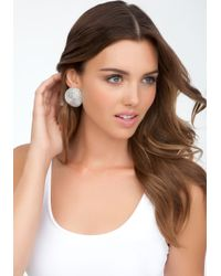 Bebe | Metallic Oversized Textured Stud Earrings | Lyst