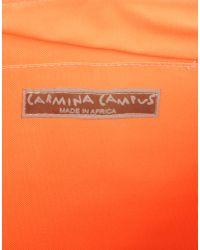 Carmina Campus | Orange Medium Fabric Bag | Lyst