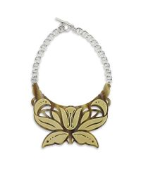 Carven | Natural Butterfly Necklace | Lyst