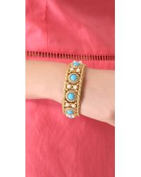 Juicy Couture Blue Cabochon Pearl Bangle