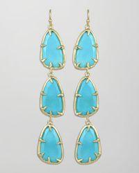 Kendra Scott - Blue Lillian Drop Earrings - Lyst