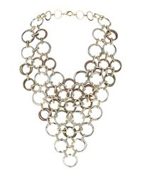 TOPSHOP | Metallic Metal Loop V Collar | Lyst