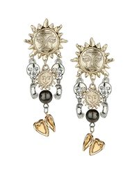 TOPSHOP - Multicolor Sun and Moon Drop Earrings - Lyst