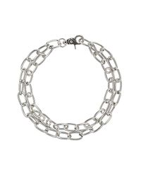 TOPSHOP - Metallic Oval Link Chain Necklace - Lyst